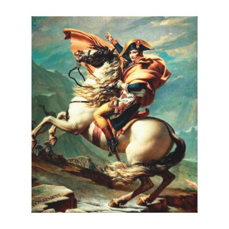 Napoleon Crossing the Alps by Jacques-Louis David Canvas Prints