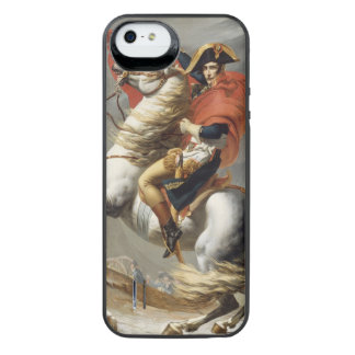 Napoleon Crossing the Alps by Jacques Louis David iPhone SE/5/5s Battery Case