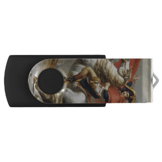 Napoleon Crossing the Alps by Jacques Louis David Swivel USB 2.0 Flash Drive