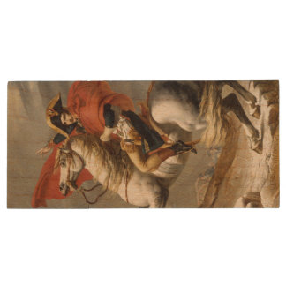 Napoleon Crossing the Alps by Jacques Louis David Wood USB 3.0 Flash Drive