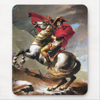 Napoleon Crossing the Alps Mouse Pad