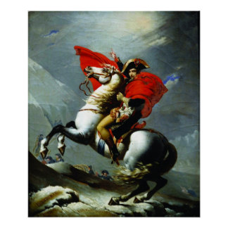 Napoleon Crossing the Alps (Perfect Quality) Poster