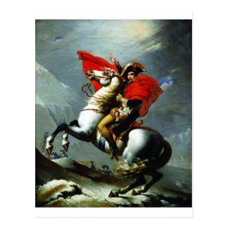 Napoleon Crossing the Alps Postcard