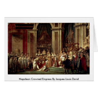 Napoleon Crowned Empress By Jacques-Louis David Greeting Card