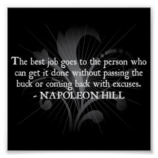 Napoleon Hill 'The best job...' quote poster