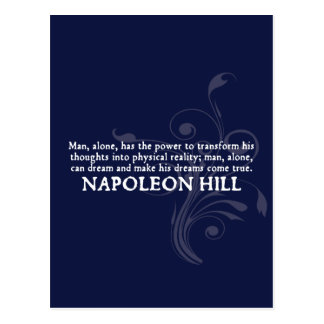 Napoleon Hill 'Thoughts and Dreams' Quote Postcard