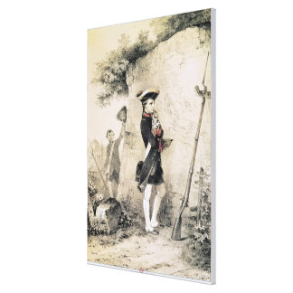 Napoleon I  at Military School Gallery Wrapped Canvas