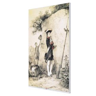 Napoleon I  at Military School Canvas Print
