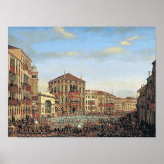 Napoleon I  Presiding over a Regatta in Venice Poster