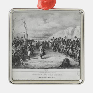 Napoleon I  returning from Elba Metal Ornament