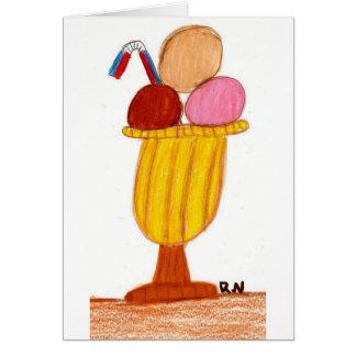 Napoleon ice cream card