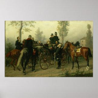 Napoleon III and Bismarck Poster