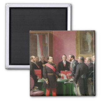 Napoleon III  Hands Over The Decree Square Magnet