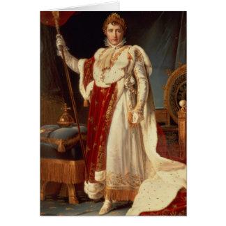 Napoleon in Coronation Robes, c.1804 Card