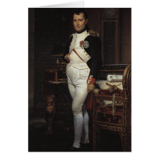 Napoleon in his Study by Jacques Louis David Greeting Card