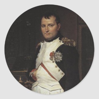 Napoleon in his Study by Jacques Louis David Round Sticker