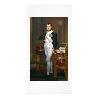 Napoleon in his study-ca.1812 Jacques Louis David Customized Photo Card