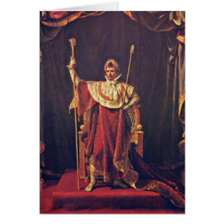 Napoleon In Imperial Robes By Jacques-Louis David Greeting Card