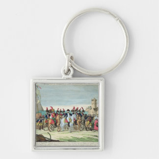 Napoleon  Leaving for Golf Juan, 1st March 1815 Keychains