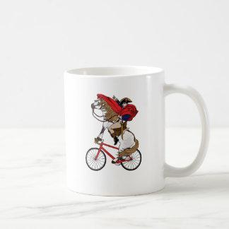 Napoleon Riding Horse Who's Riding A Bike Coffee Mug