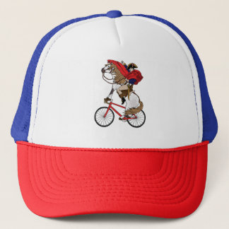Napoleon Riding Horse Who's Riding A Bike Trucker Hat