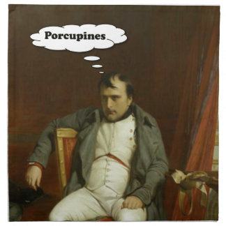 Napoleon Thinks About Porcupines Napkin