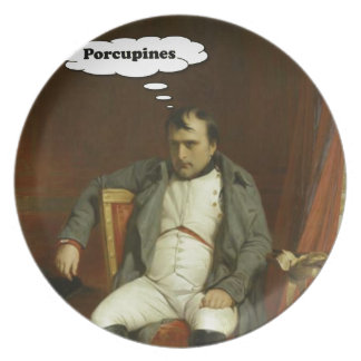 Napoleon Thinks About Porcupines Plate