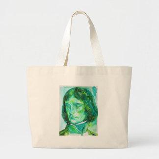napoleon - watercolor portrait large tote bag
