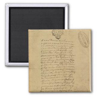 Napoleon's Birth Certificate, 1769 Square Magnet