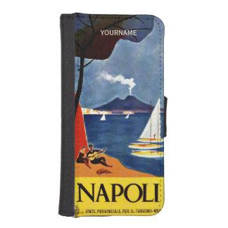 Napoli Italy vintage travel custom phone wallets