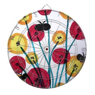 Nappen blomster med sommerfugler dartboard