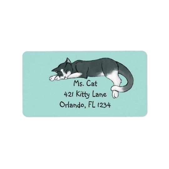 Napping Kitty Address Label