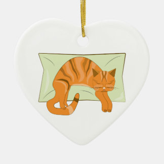 Napping Kitty Christmas Tree Ornament