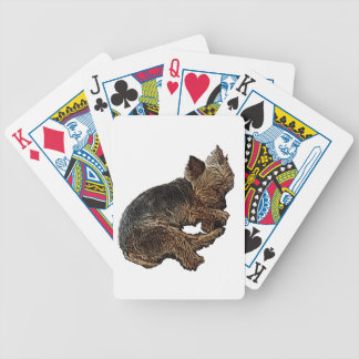 Napping Yorkie Bicycle Playing Cards