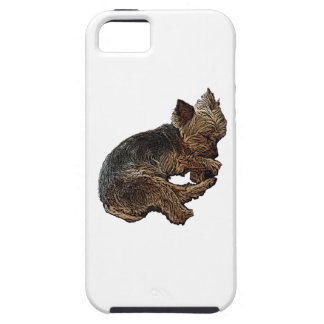 Napping Yorkie iPhone 5 Case