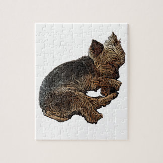 Napping Yorkie Jigsaw Puzzle
