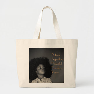 Nappy Acronym Large Tote Bag