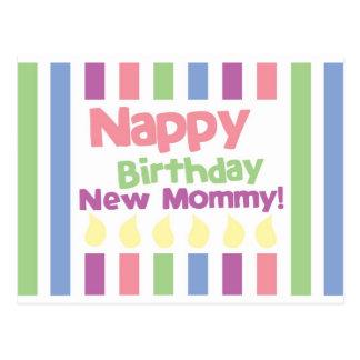 Nappy Birthday Dear mommy! Post Card
