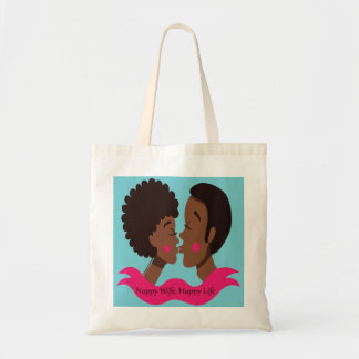 Nappy Life Happy Wife Tote Bag