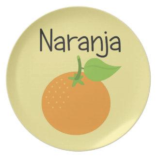 Naranja (Orange) Plate