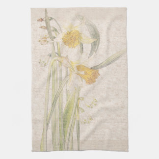Narcissus Wildflowers Flowers Kitchen Towels
