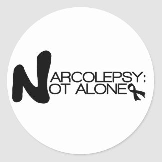 NARCOLEPSY: NOT ALONE™ Classic Stickers