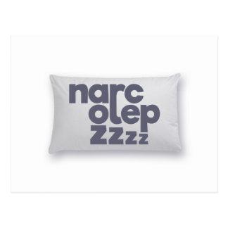 Narcolepsy zzz postcard