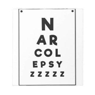 Narcolepsy ZZZZ Notepad