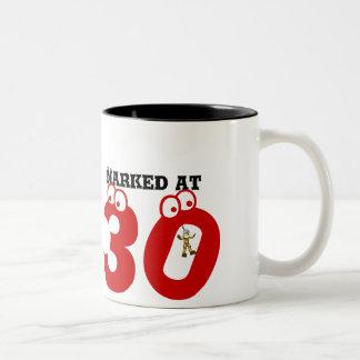 Narked at 30 Two-Tone mug
