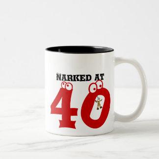 Narked at 40 Two-Tone mug