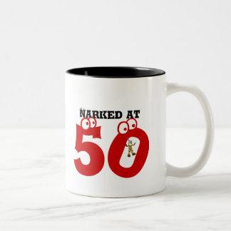 Narked at 50 Two-Tone mug