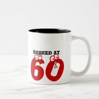 Narked at 60 Two-Tone mug