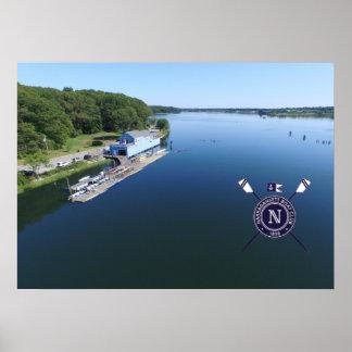 Narragansett Boat Club Aerial Photo Poster