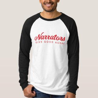 Narrators Give Good Aural Mens jersey w/r web T-Shirt